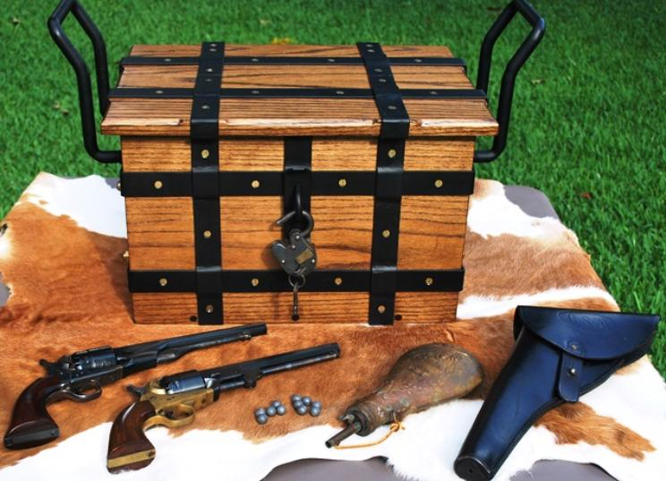 Western Style Strong Box or Ammunition Chest Wells Fargo Style