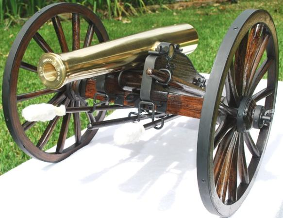 Brooks Firing USA Brass Napoleon Barrel on a No. 2 Field Carriage